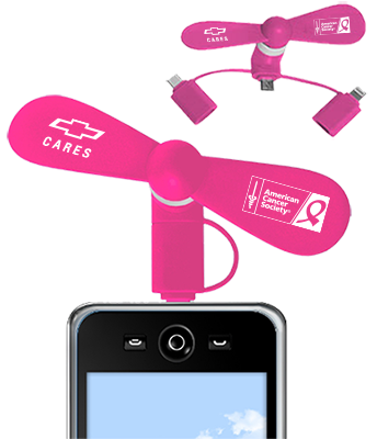 f5fee583 Breast Cancer Awareness Smart Phone Fan: Cruisin Sports