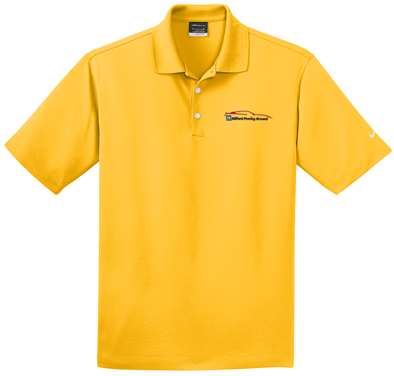 53380ad3 Milford Proving Ground NIKE Golf Dri-Fit Micro Pique Polo University Gold