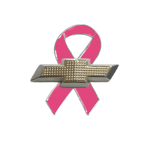 Pink Breast Cancer Awareness and Chevy Lapel pin