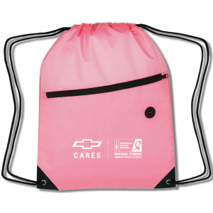 Pink Breast Cancer Awareness Nylon Backpack