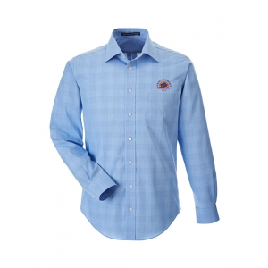 Dealer Personalized French Blue Plaid Button Up Shirt