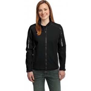 Dealer Personalized Lds Black/Gray Soft Shell Jacket