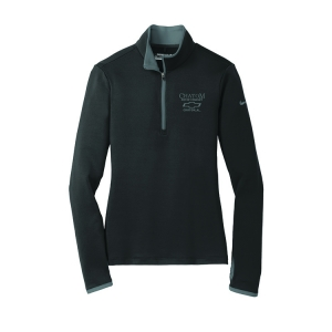 Dealer Personalized Ladies NIKE 1/2 Zip Black/Dk Grey