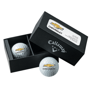 Dealer Personalized Callaway Warbird Plus 2 Ball Business Card Box