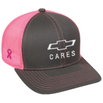 Charcoal Pink Mesh Breast Cancer Awareness Hat