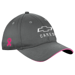 Charcoal Pink Sandwich Breast Cancer Awareness Hat
