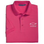 Ladies Breast Cancer Awareness Pink Short Sleeve Polo