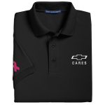 Men's Breast Cancer Awareness Black Polo