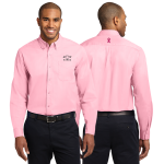 Mens Pink Breast Cancer Awareness Dress Shirt