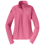 Ladies Pink Half Zip Pullover