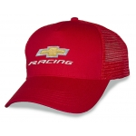 Red Mesh Big Head Cap® with Gold Bowtie Racing