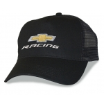Black Mesh Big Head Cap® with Gold Bowtie Racing