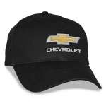 Black Big Head Cap® with Gold Bowtie Chevrolet