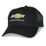 Black Mesh Big Head Cap® with Gold Bowtie Chevrolet