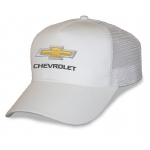 White Mesh Big Head Cap® with Gold Bowtie Chevrolet