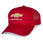 Red Mesh Big Head Cap® with Gold Bowtie Chevrolet