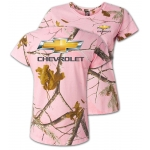 Ladies Pink Camo T-shirt