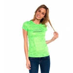 Ladies Green Neon Burnout T-Shirt