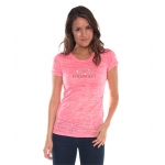 Ladies Pink Neon Burnout T-Shirt