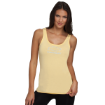 Ladies Jersey Banana CreamTank Top with Rhinestud Bowtie