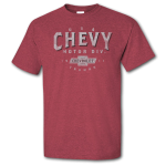 Chevy Motor City Heritage Heather Cardinal T-Shirt