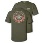 Hi-performance Sales and Service Military Green T-Shirt