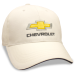 White Hat Black Sandwich Bill Gold Bowtie Chevrolet