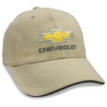 Khaki Hat Black Sandwich Bill Gold Bowtie Chevrolet