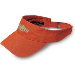 Orange Visor with Gold Bowtie