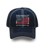 Chevrolet Est 1911 Navy Hat with American Flag