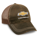 Brown Weathered Mesh Back Hat with Gold Bowtie