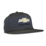 Gray Flatbill Fitted Cap with Gold Bowtie