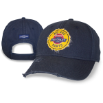 Navy/ Grey Hat w/ Distressed Chevy Parts Patch