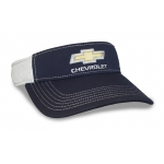 Navy/ White Perf Fabric Gold Bowtie Visor