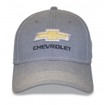 Lt Grey/ Stone Fitted Hat Gold Bowtie Chevrolet.