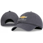 Charcoal Garment Washed Velcro Cap w/GBT Chevrolet