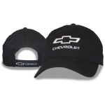 Black Hat 3D Raised Bowtie Chevrolet Velcro Closure