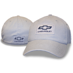 Grey Hat Flex Fit Chevy Patch Heavy wash cotton twill
