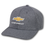 Black Heathered Cap w/ Gold Bowtie Chevrolet