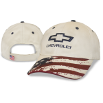 Stars & Stripes Stone Cap with Open Bowtie Chevrolet