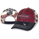 Chevrolet Heritage Red American Flag Mesh Back Cap