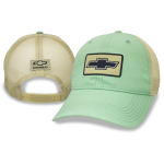 Green Heritage Chevrolet Cap with Tan Mesh