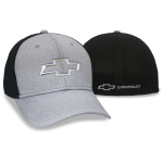 Grey/ Black Fitted Cap w/ Chrome open Chevrolet bowtie