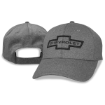 Black heathered perfromance cap with heritage bowtie Chevrolet