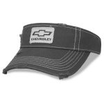 Charcoal distressed visor open bowtie Chevrolet patch