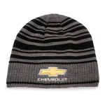 Grey/Black Stripe Beanie