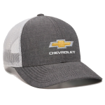 Black Heather Chambray White Mesh Chevrolet Cap
