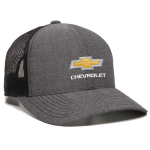 Black Heather Chambray Mesh Chevrolet Cap