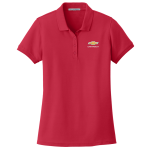Ladies Red Core Classic Pique Polo