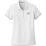 Ladies White Core Classic Pique Polo